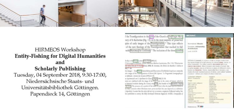 HIRMEOS Workshop: Entity-Fishing for Digital Humanities and Scholarly Publishing